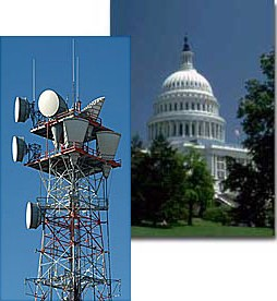 Radio Tower and US Capitol Building